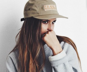 girl, hat, and tumblr image