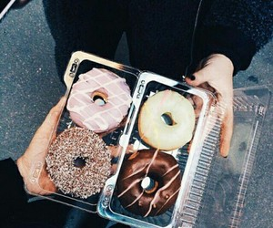 donuts, food, and tumblr image