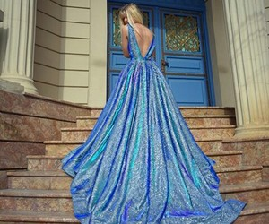 amazing, blue, and dress image