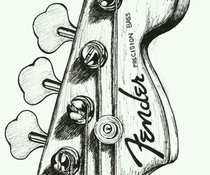 guitar, draw, and art image