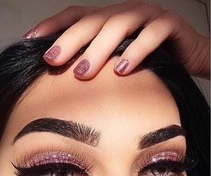 black hairs, classy, and eyeliner image