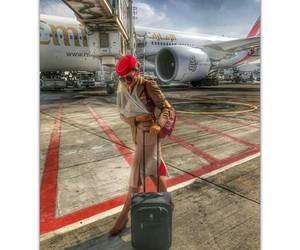 Dubai, emirates, and flight attendant image