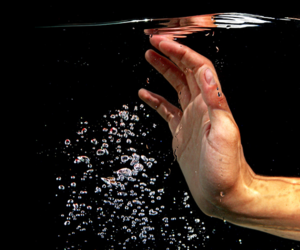 water and hand image