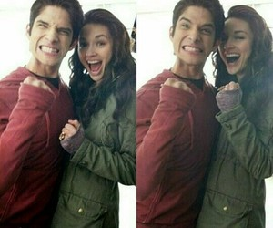 crystal reed, teen wolf, and tyler posey image