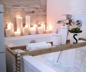 bathroom, home, and relax image
