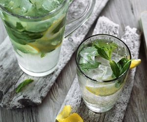 drink, lemon, and ice image