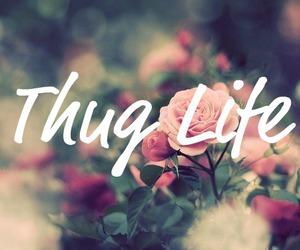 thug, flowers, and life image