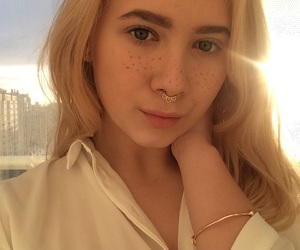 blond, sun, and eyes image