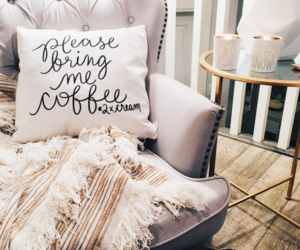 home, interior, and coffee image