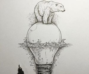 art, Polar Bear, and drawing image