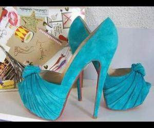 blue and high heels image