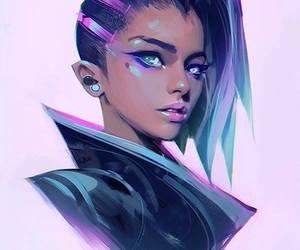 sombra, art, and overwatch image