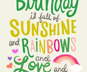 birthday, happy birthday, and rainbow image