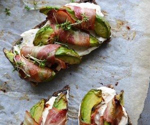 food, avocado, and bacon image