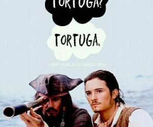 orlando bloom, Tortuga, and johnny depp image