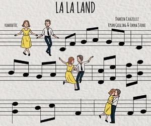 la la land, emma stone, and ryan gosling image