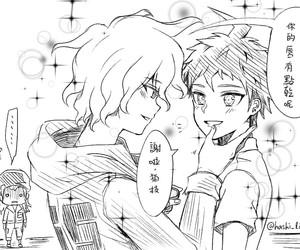 komahina, yaoi, and dr2 image