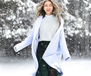 clothes, snow, and spring image