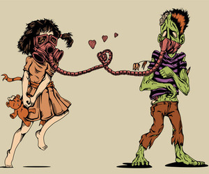 zombie and love image