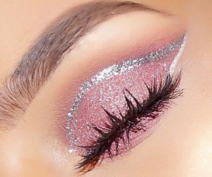 makeup, pink, and glitter image