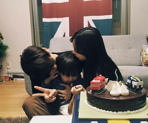 asian boy, cake, and kids image