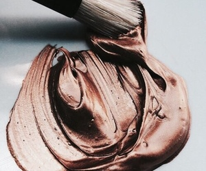 gold, rose gold, and paint image