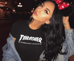 beauty, makeup, and thrasher image