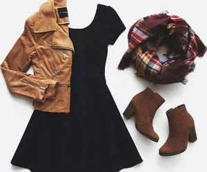 black, brown, and clothes image