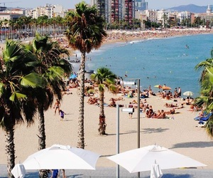 Barcelona, beach, and chill image