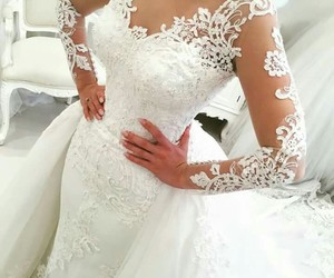 bride, white dress, and 💍 image