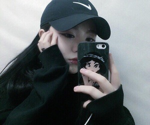 ulzzang, black, and fashion image