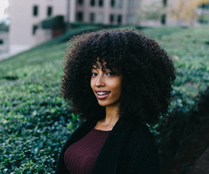 natural hair, curly fro, and big curly hair image