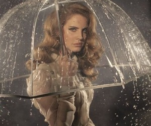 lana del rey, rain, and umbrella image