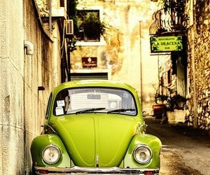 car, green, and vintage image