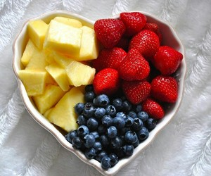 fruit, strawberry, and blueberry image