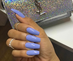 nails, luxury, and blue image