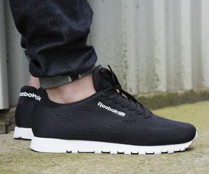 beautiful, reebok, and black shoes image