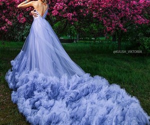 elegant, dress, and purple image