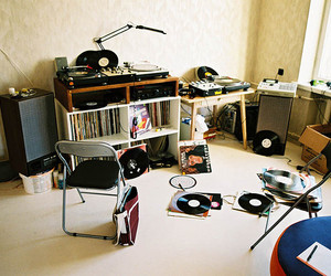 room, vintage, and record image