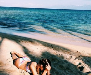 beach, nature, and goals image
