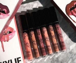 makeup, kylie, and lipstick image