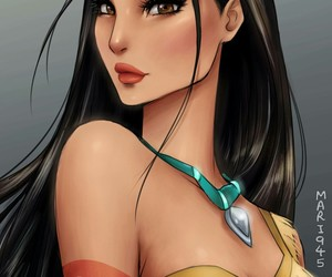 anime, pocahontas, and princesa image