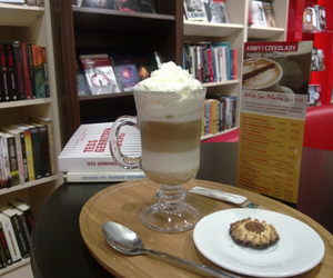 books, food, and bookstore image