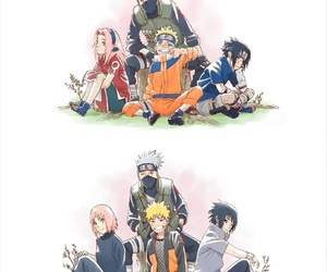 naruto, team 7, and naruto shippuden image