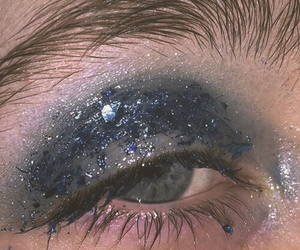 blue, aesthetic, and glitter image