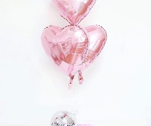 heart, pink, and balloons image
