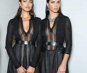 Adriana Lima, sisters, and twins image