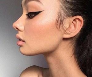 girl, makeup, and eyeliner image