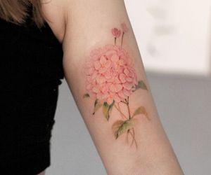 tatoo flower and tatoo delicate image