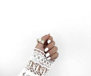 beautiful, nail, and ring image